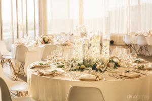Photo of the indoor table set - Kimber & Julius' Warmsley Wedding